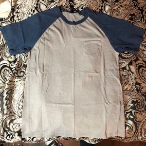 Gray and Blue Short Sleeve RVCA shirt